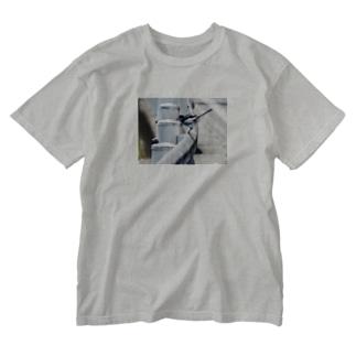 ハクセキレイ フォトT Washed T-shirts