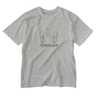 離れても心は繋がっています Washed T-shirts
