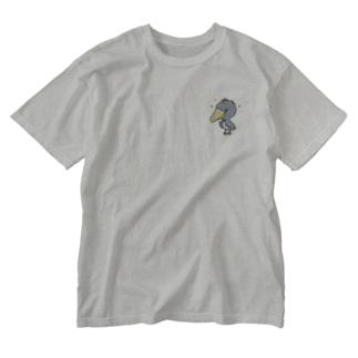 ハシビロコウ王 Washed T-shirts