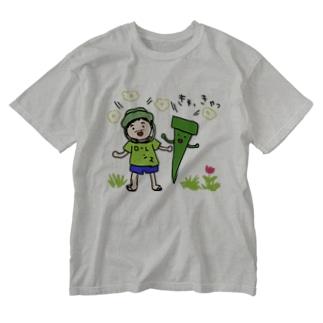 釘くんとおぢさん Washed T-shirts