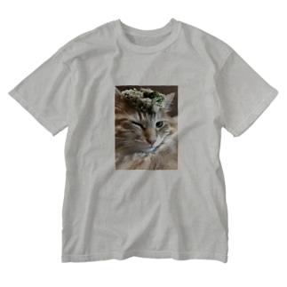Kusakashのプリンス・ジャンゴのサンキューウィンク Washed T-shirts