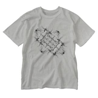 ハートの剣 Washed T-shirts