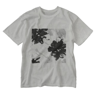 pattern Flower Washed T-shirts