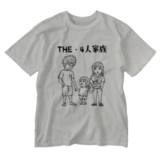 THE・4人家族 Washed T-shirts