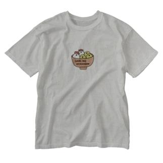 ぎりのおやこどん Washed T-shirts