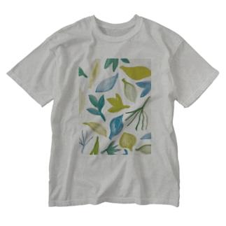 葉 Washed T-shirts