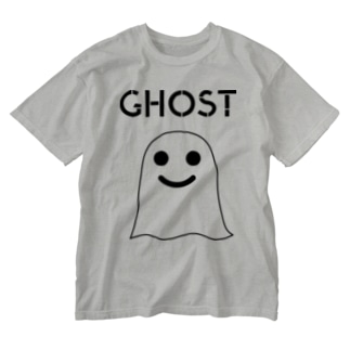 GHOST IN THE SHEET (Black Line) Washed T-shirts