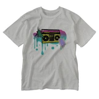 音ヲ身ニ Washed T-shirts