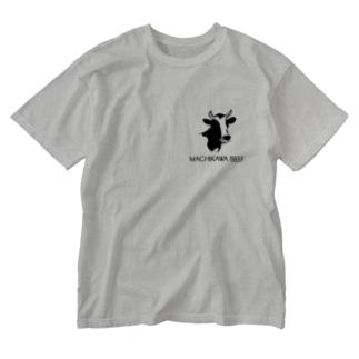 MACHIKAWA BEEF(黒) Washed T-shirts