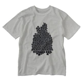 猫見 Washed T-Shirt