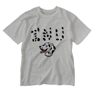 ダルメシアン INU Washed T-shirts