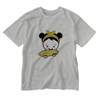 もろこしスマイルちゃん Washed T-shirts