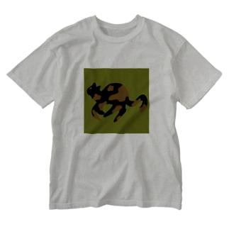 はしるねこちゃん Washed T-shirts