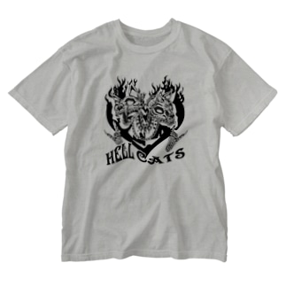 HELL CATS Washed T-shirts