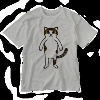 ねこのごまおはぎのねこのごまおはぎ Washed T-shirts