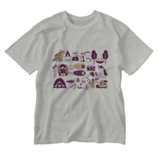 camp cats 紫 Washed T-shirts