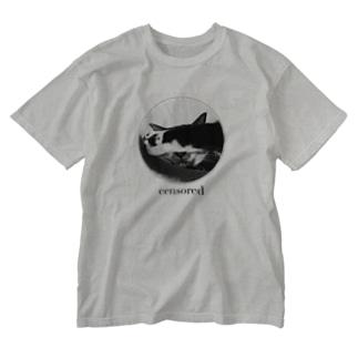 その猫、凶暴につき Washed T-Shirt