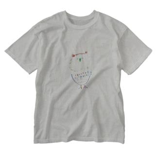 フクロウシリーズTシャツ Washed T-shirts
