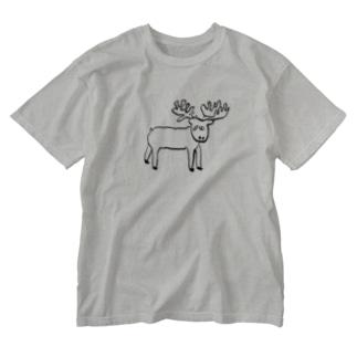 ヘラジカくん Washed T-shirts