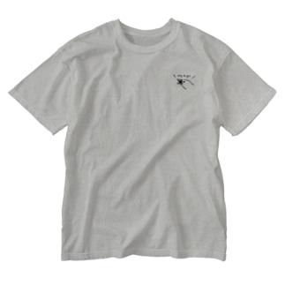 ポジティブな文鳥 ひかえめVer. Washed T-shirts