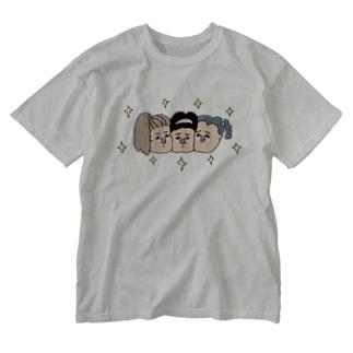友達っていいね Washed T-shirts