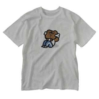 腹筋するマンガ肉(カラフル) Washed T-shirts