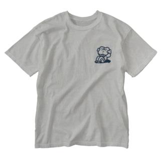 腹筋するマンガ肉(シンプル) Washed T-shirts