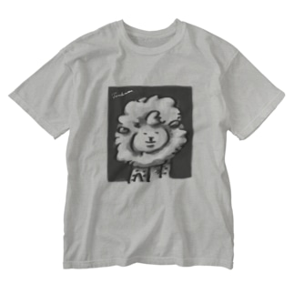 マトンの肖像(モノクロ) Washed T-shirts