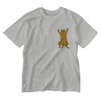 ねこねこんんん Washed T-shirts