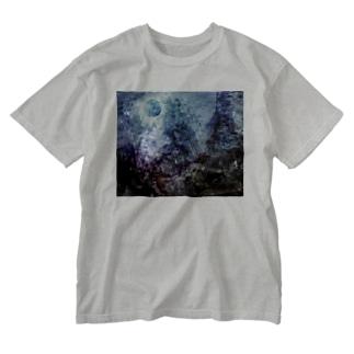 壊された未来と焦燥 タイポグラフィ無し Washed T-shirts