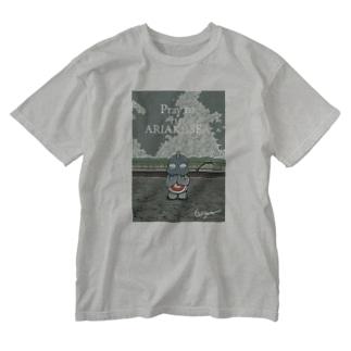 有明海の祈り Washed T-shirts