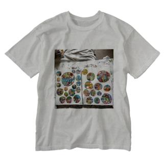 circle ○○○○○○ Washed T-shirts