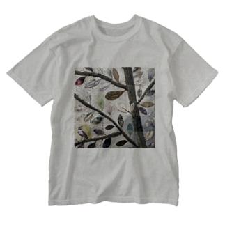 葉っぱ Washed T-shirts