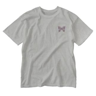 アゲハ×蝶蝶蝶(pink)【両面プリント】 Washed T-shirts