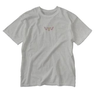 鹿兎×白鹿シロ008【両面プリント】 Washed T-shirts