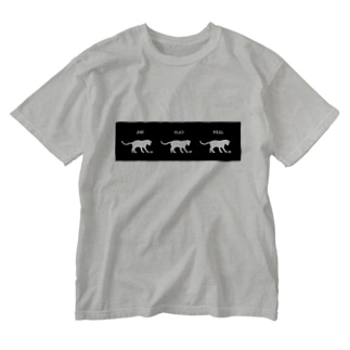 猫の仕事・趣味・食事 Washed T-shirts