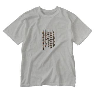 干し柿 Washed T-shirts