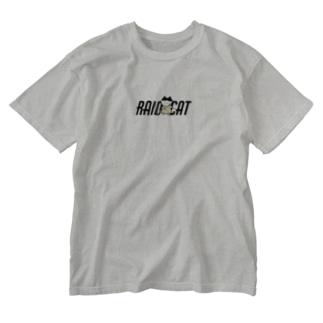 かちこみねこちゃん Washed T-shirts