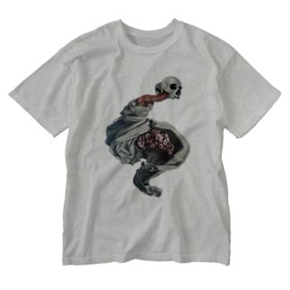 蠢く髑髏 Washed T-shirts