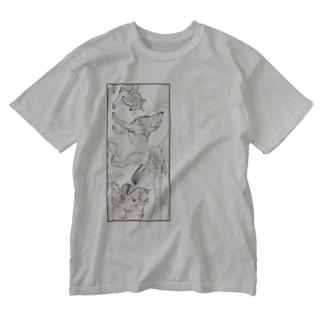 白盆 White August Washed T-shirts