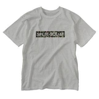 SPLIT SQUAT カモ柄BOXロゴ Washed T-shirts