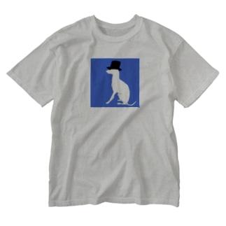 帽グレ Washed T-shirts