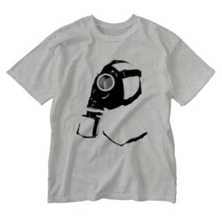 ガスマスク (黒) Washed T-shirts