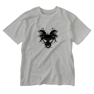スカルゴート Washed T-shirts