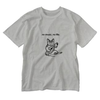 no music, no life Washed T-shirts