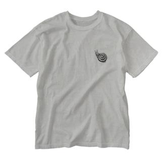 ウォッシュTシャツ -カタツムリ- Washed T-shirts
