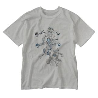 おおかみ男ジャーンプ Washed T-shirts