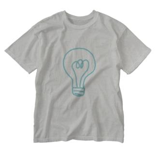 電球 Washed T-shirts