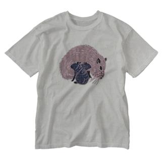 カピパラ親子ん Washed T-shirts