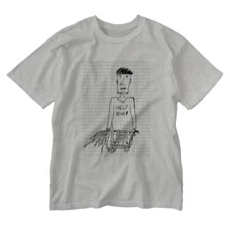 キャタピラの行方 Washed T-shirts